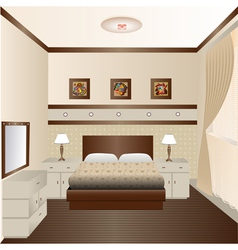 interior room with a window and a mirror vector image vector image
