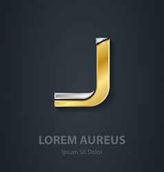 Letter J Template for company logo 3d Design vector image