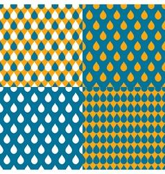 Set orange blue water drops background vector