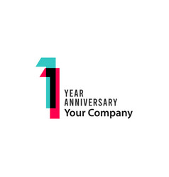 11 year anniversary template design vector