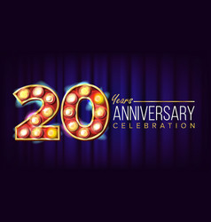 20 years anniversary banner twenty vector