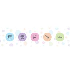 5 gardening icons vector