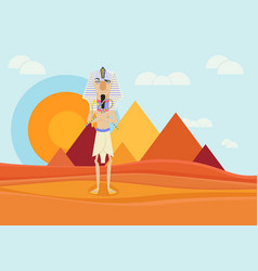 A pharaoh of ancient egypt vector