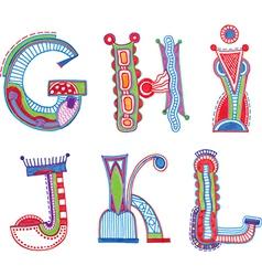 ABC font Sketchy alphabet design vector image