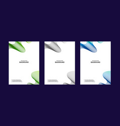 Abstract banner bag round collections colors vector