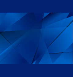 abstract dark blue technical polygonal background vector image