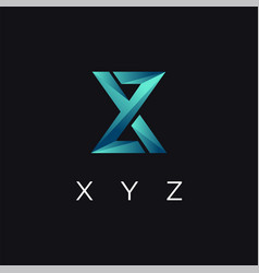 abstract modern monogram xyz letter logo icon vector image