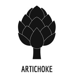 artichoke icon simple style vector image