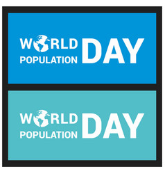 Banner or poster of world population day vector