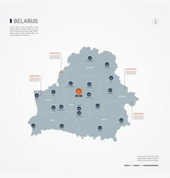 Belarus infographic map vector