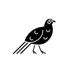 Bird black glyph icon vector