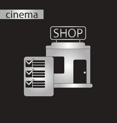 black and white style icon shop form vector image