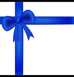Blue ribbon on white box vector image