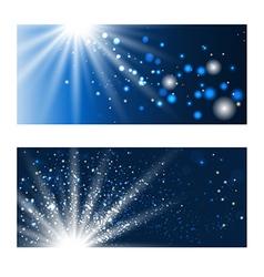 Blue shining backdrops vector