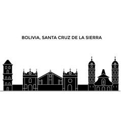 Bolivia santa cruz de la sierra architecture vector
