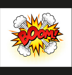 boom word comic pop art vector image
