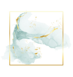 Brush grey blue strokes in gentle tones and gold vector