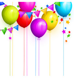 Bunch of colorful birthday balloons vector