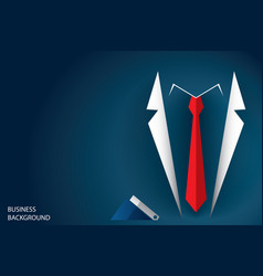 businessman suit and red necktie vector image