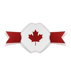 canada red maple leaf on realistic banner vector image