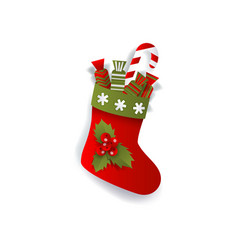 Christmas stocking boot decoration element vector