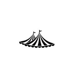 circus tent logo template vector image