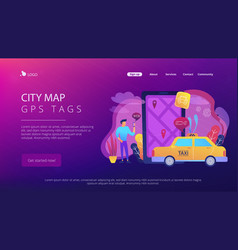 City navigation apps smart city concept vector