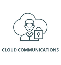 cloud communications line icon cloud vector image