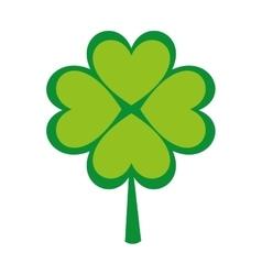 clover leaf luck saint patrick icon vector image
