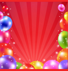 color balloon card vector image