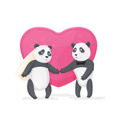 Couple in love pandas vector