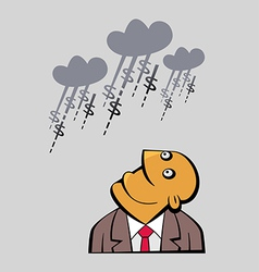Daydreaming Businessman vector image