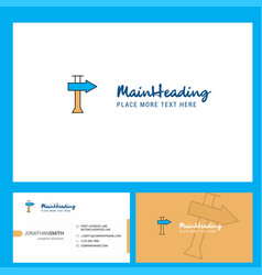 direction board logo design with tagline front vector image
