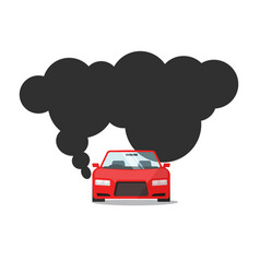 emission co2 of automobile fuel vector image