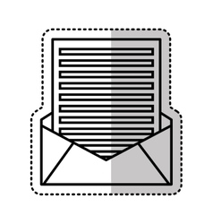 Envelope mail flat icon vector