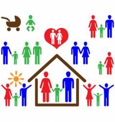 family symbols vector image