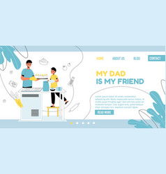 Father day weekend pastime landing page template vector