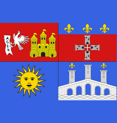 flag of lot-et-garonne in nouvelle-aquitaine is vector image