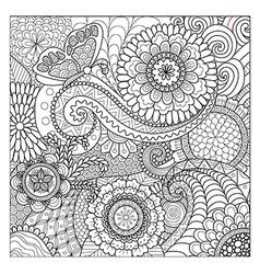 Flowers mandalas vector