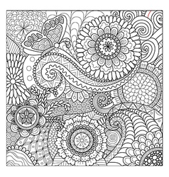 flowers mandalas vector image