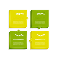 Four steps process arrows vector