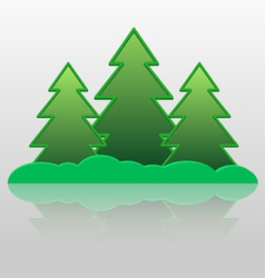 Fur trees vector