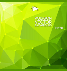 green polygon backround vector image