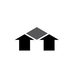 House black logo icon arrow symbol design vector
