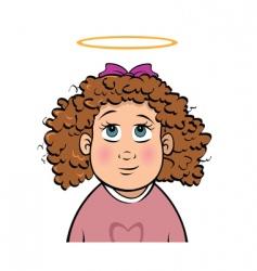 innocent girl vector image