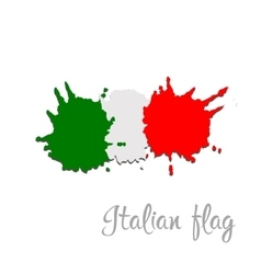 Italy flag painted by brush hand paints art flag vector