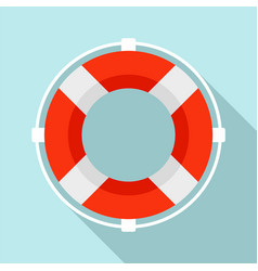 Life buoy solution icon flat style vector