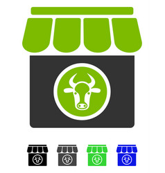 Livestock farm flat icon vector