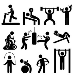 man athletic gym gymnasium body exercise workout vector image