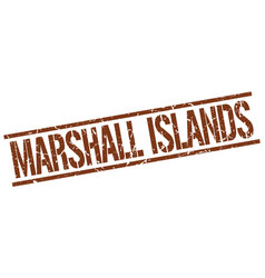 Marshall islands brown square stamp vector